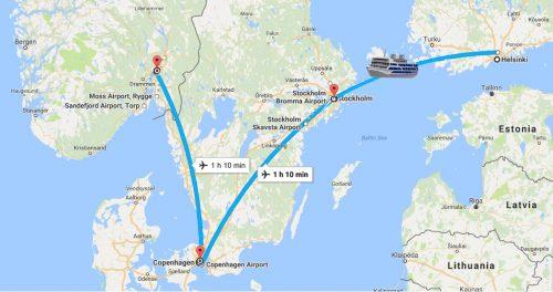 نقشه اسکاندیناوی