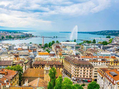 تصویر زیبایی از شهر ژنو سوئیس